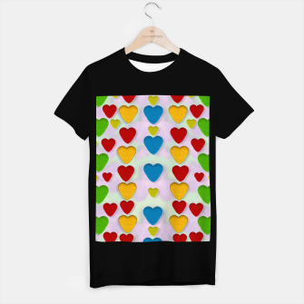 Miniatur So sweet and hearty as love can be pop art T-shirt regular, Live Heroes