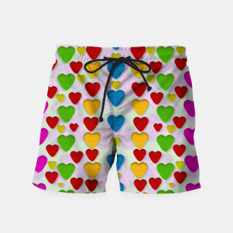Miniatur So sweet and hearty as love can be pop art Swim Shorts, Live Heroes