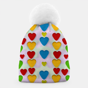 Miniatur So sweet and hearty as love can be pop art Beanie, Live Heroes