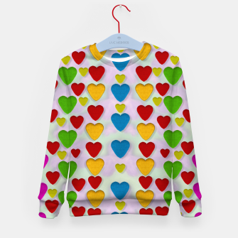 Miniatur So sweet and hearty as love can be pop art Kid's Sweater, Live Heroes