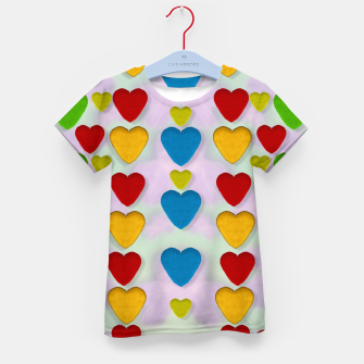 Miniatur So sweet and hearty as love can be pop art Kid's T-shirt, Live Heroes