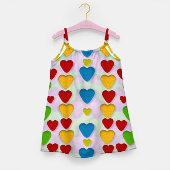 Miniatur So sweet and hearty as love can be pop art Girl's Dress, Live Heroes