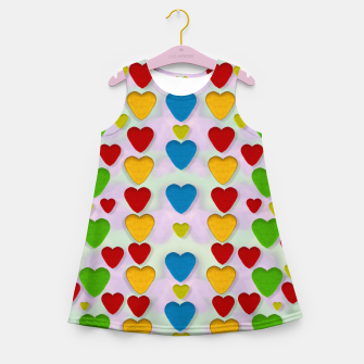 Miniatur So sweet and hearty as love can be pop art Girl's Summer Dress, Live Heroes
