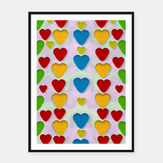 Miniatur So sweet and hearty as love can be pop art Framed poster, Live Heroes