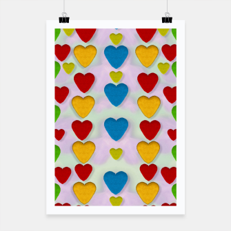 Miniatur So sweet and hearty as love can be pop art Poster, Live Heroes