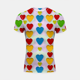 Miniatur So sweet and hearty as love can be pop art Shortsleeve Rashguard, Live Heroes