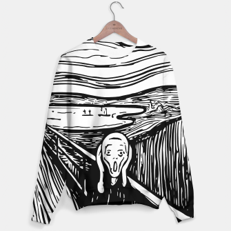 Miniature de image de The Scream by Edvard Munch Black White Sweatshirt, Live Heroes