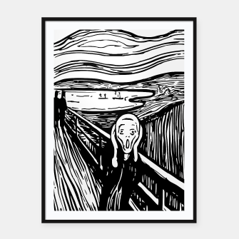 Miniature de image de The Scream by Edvard Munch Framed Graphic Art Poster, Live Heroes