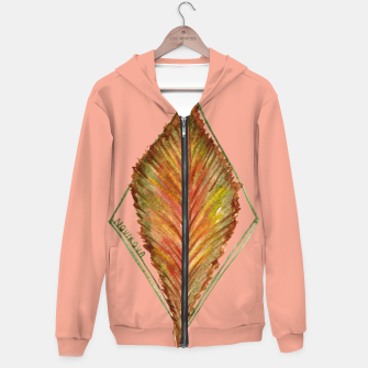 Thumbnail image of Autumn RedGreen Leaf Hoodie, Live Heroes