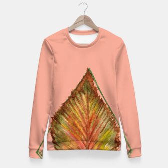 Thumbnail image of Autumn RedGreen Leaf Fitted Waist Sweater, Live Heroes
