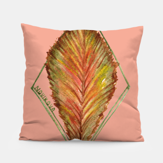 Thumbnail image of Autumn RedGreen Leaf Pillow, Live Heroes