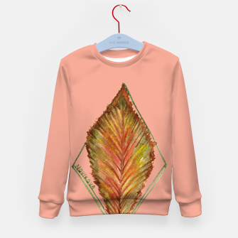 Thumbnail image of Autumn RedGreen Leaf Kid's Sweater, Live Heroes