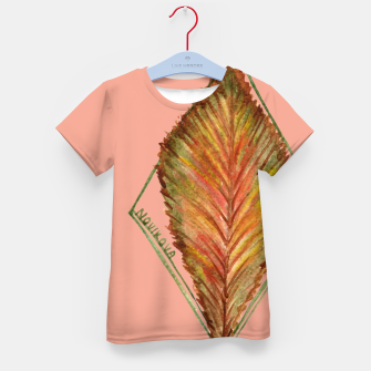 Thumbnail image of Autumn RedGreen Leaf Kid's T-shirt, Live Heroes