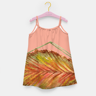 Thumbnail image of Autumn RedGreen Leaf Girl's Dress, Live Heroes