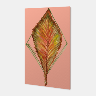 Thumbnail image of Autumn RedGreen Leaf Canvas, Live Heroes