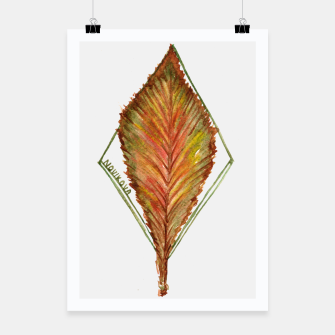Thumbnail image of Autumn RedGreen Leaf2 Poster, Live Heroes