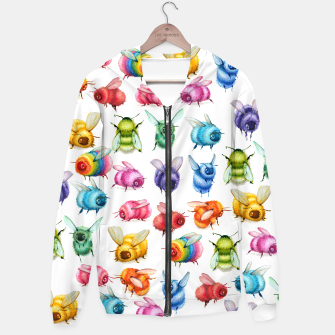 Miniature de image de Bee Collage Hoodie, Live Heroes