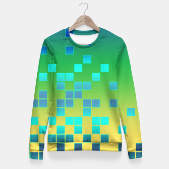 Thumbnail image of Vector illustration Abstract square Fitted Waist Sweater, Live Heroes