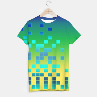 Thumbnail image of Vector illustration Abstract square T-shirt, Live Heroes
