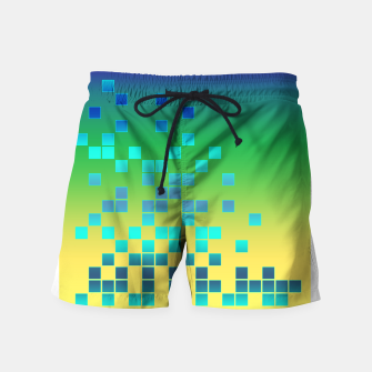 Thumbnail image of Vector illustration Abstract square Swim Shorts, Live Heroes