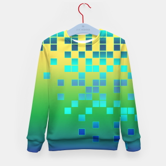 Thumbnail image of Vector illustration Abstract square Kid's Sweater, Live Heroes