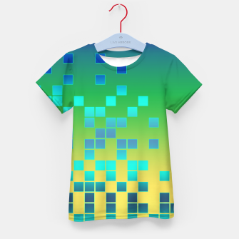 Thumbnail image of Vector illustration Abstract square Kid's T-shirt, Live Heroes