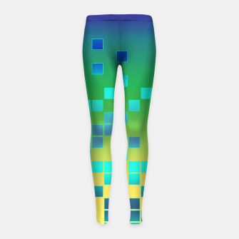 Thumbnail image of Vector illustration Abstract square Girl's Leggings, Live Heroes