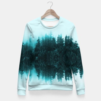 Cloudy Forest Fitted Waist Sweater Bild der Miniatur