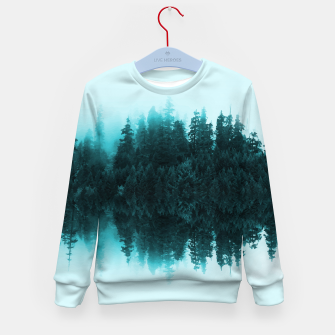Cloudy Forest Kid's Sweater Bild der Miniatur