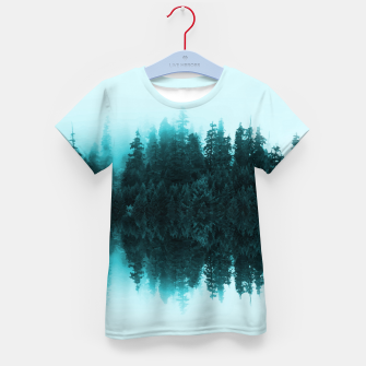 Cloudy Forest Kid's T-shirt Bild der Miniatur
