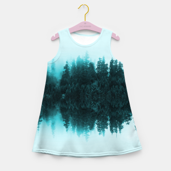 Cloudy Forest Girl's Summer Dress Bild der Miniatur