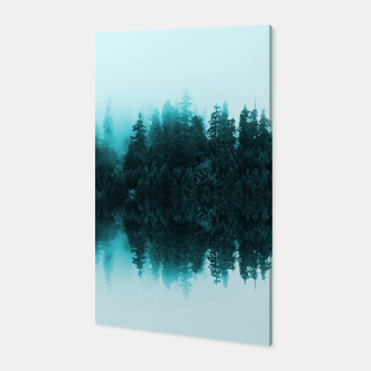 Cloudy Forest Canvas Bild der Miniatur