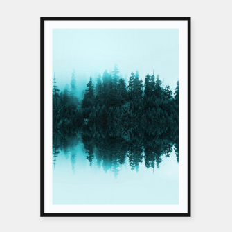 Miniatur Cloudy Forest Framed poster, Live Heroes