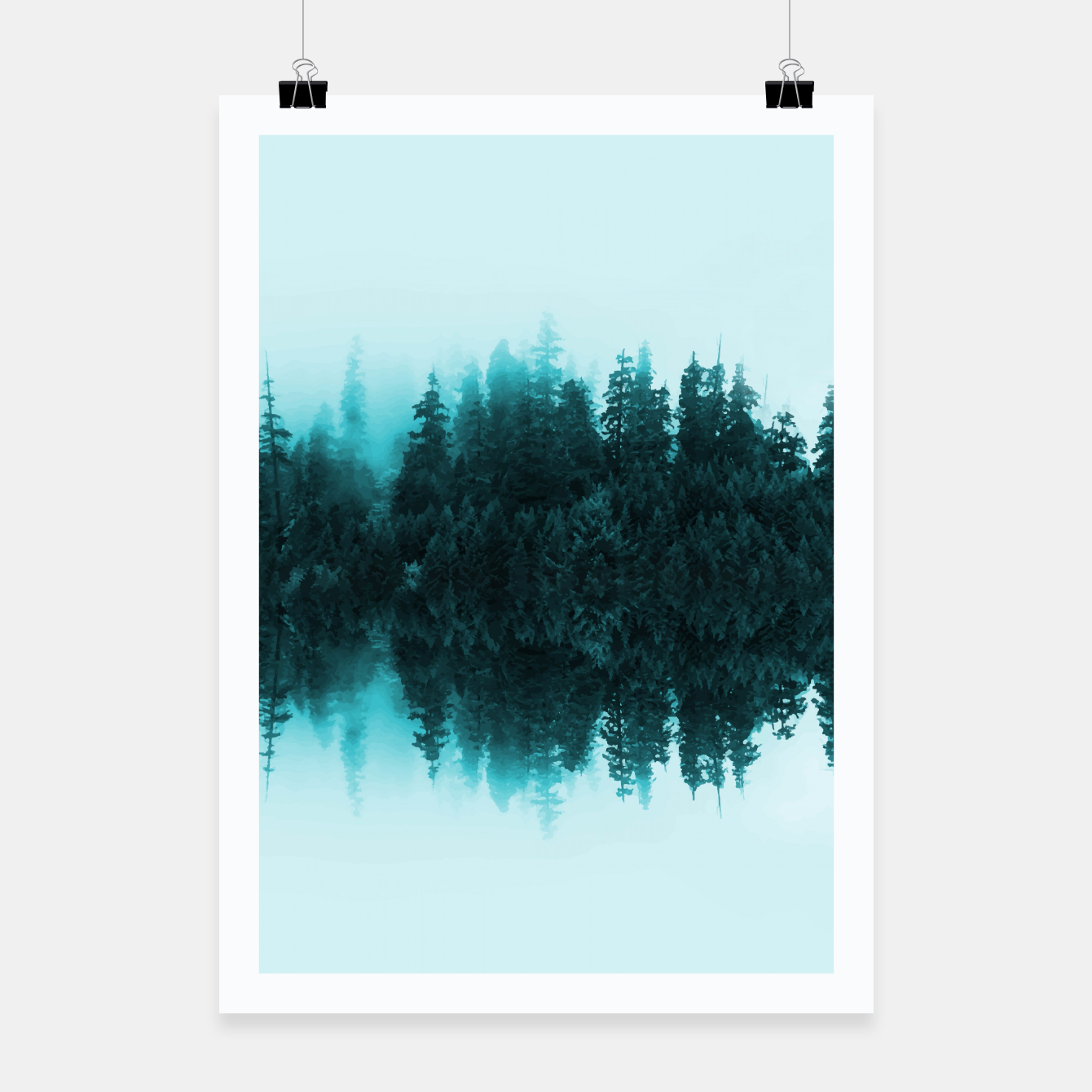 Foto Cloudy Forest Poster - Live Heroes