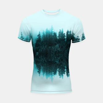 Thumbnail image of Cloudy Forest Shortsleeve Rashguard, Live Heroes