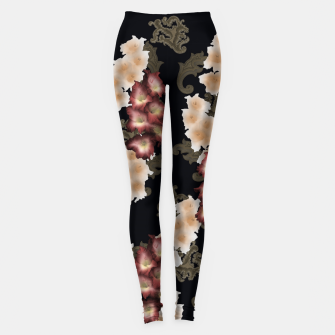 Thumbnail image of Gladiolus with baroque decoration Leggings, Live Heroes