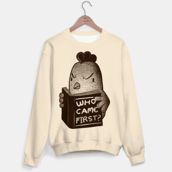 Thumbnail image of Chicken Who Came First Sweater, Live Heroes