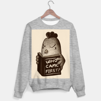Chicken Who Came First Sweater regular imagen en miniatura