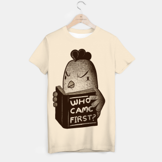 Thumbnail image of Chicken Who Came First T-shirt, Live Heroes