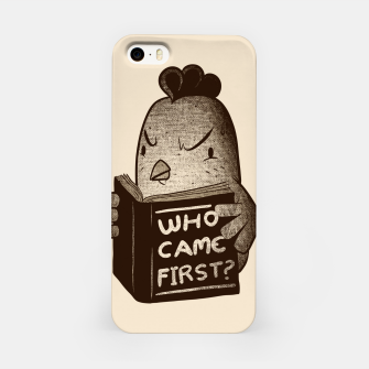 Chicken Who Came First iPhone Case imagen en miniatura