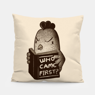 Chicken Who Came First Pillow imagen en miniatura