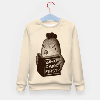 Chicken Who Came First Kid's Sweater imagen en miniatura