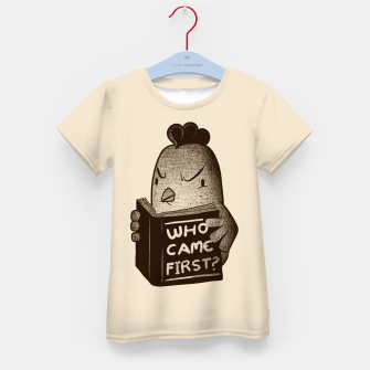 Chicken Who Came First Kid's T-shirt imagen en miniatura