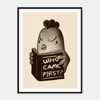 Chicken Who Came First Framed poster imagen en miniatura