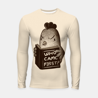 Thumbnail image of Chicken Who Came First Longsleeve Rashguard , Live Heroes