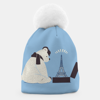 Thumbnail image of Traveler Tourist Eiffel Tower Bear Paris Beanie, Live Heroes