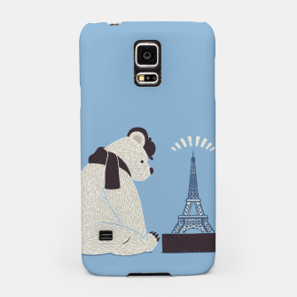 Thumbnail image of Traveler Tourist Eiffel Tower Bear Paris Samsung Case, Live Heroes