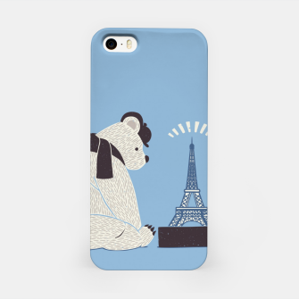 Thumbnail image of Traveler Tourist Eiffel Tower Bear Paris iPhone Case, Live Heroes