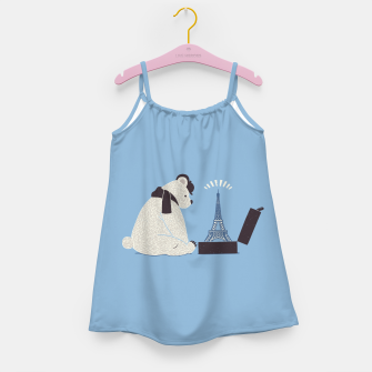 Thumbnail image of Traveler Tourist Eiffel Tower Bear Paris Girl's Dress, Live Heroes