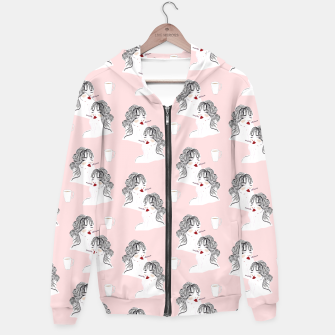 Thumbnail image of Coffee & Cigarettes__Fashion Illustration Hoodie, Live Heroes